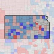 2013 Employment Data Map Kansas
